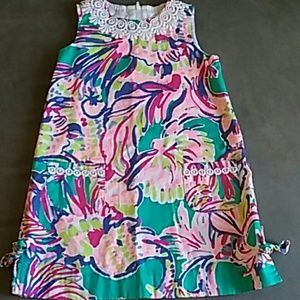 Lilly Pulitzer girls shift dress size 6 embroidery